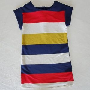 Nautical sailor style striped pullover dress